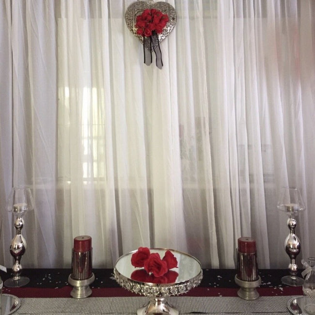 Backdrop Curtain - White Chiffon