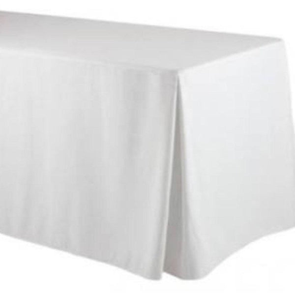 Fitted Table Skirting - White