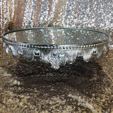 Cake Stand - Antique Silver Mirror - Large