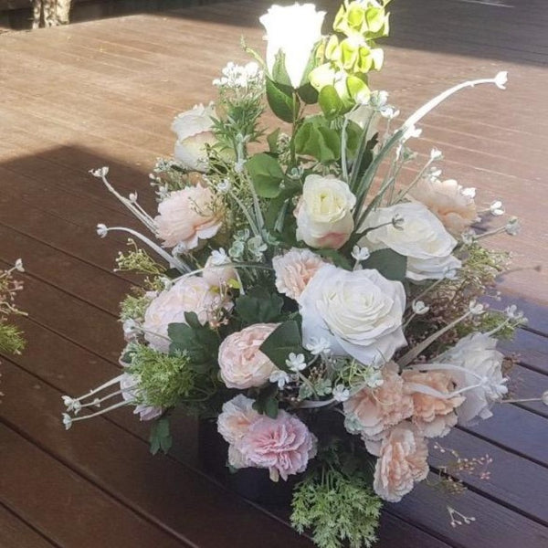 Floral arrangements -Peach and White