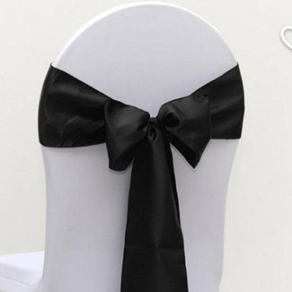 Satin Sash - Black