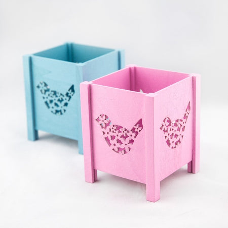 Wooden Tray - Pink