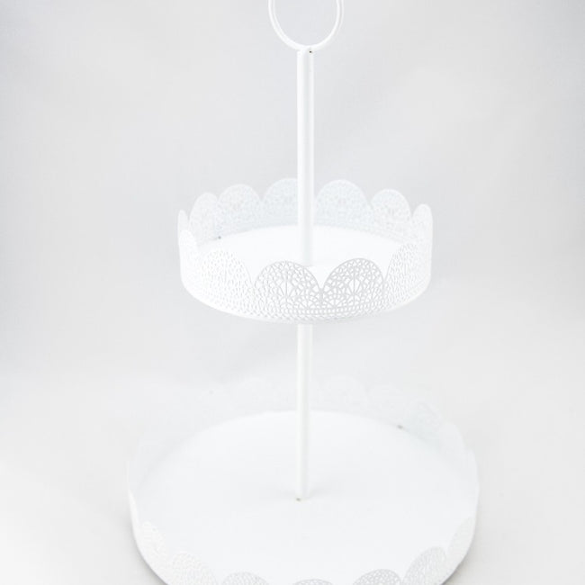 Cupcake Stand  - White Lattice