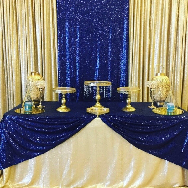 Backdrop Curtain - Matte Gold Sequin