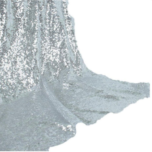 Backdrop Curtain - Silver Sequin