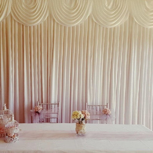 Backdrop Curtain - Small Swag - White