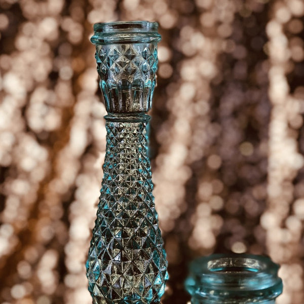 Mini Candelabra - Teal