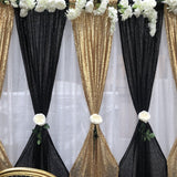 Backdrop Curtain - Black Sequin