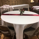 Satin Table Runner - Burgundy