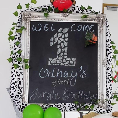 Vintage Welcome Blackboard - White