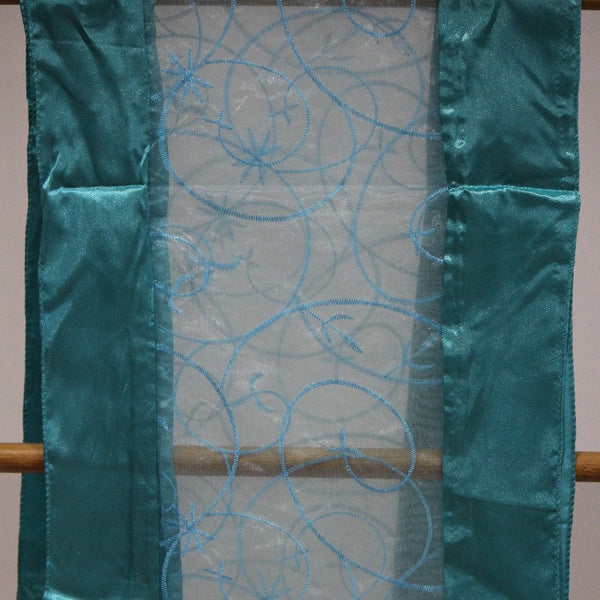 Table Runner - Embroidery Teal