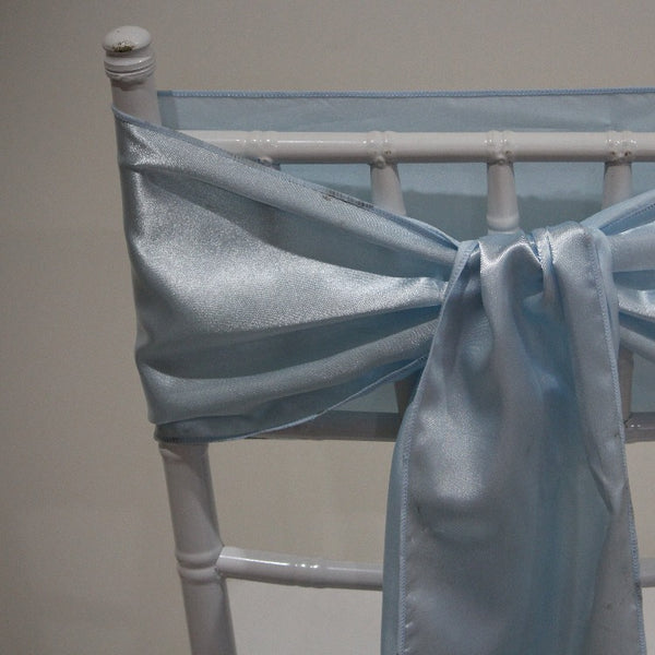 Satin Sash - Ice Blue
