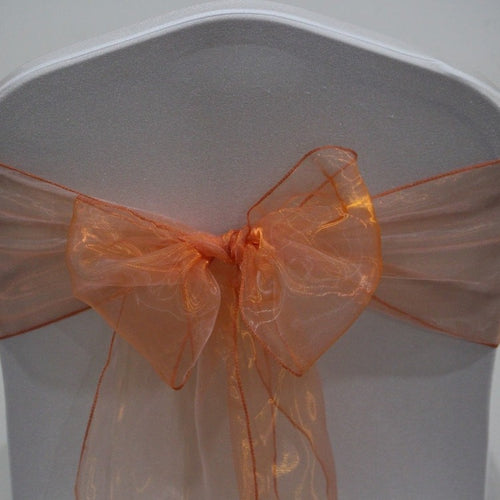 Organza Sash - Orange