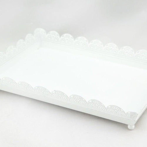 Lattice Tray - White