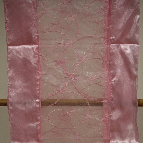 Table Runner -embroidery pink