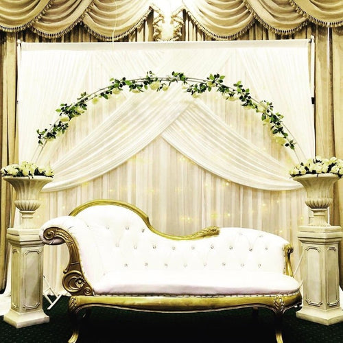 Backdrop Curtain - Large Swag - White