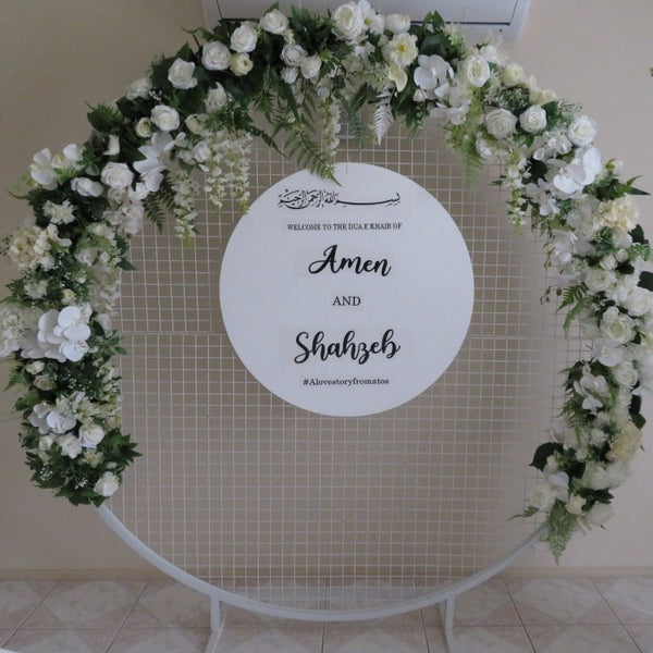 Floral arrangement-White Floral Runner