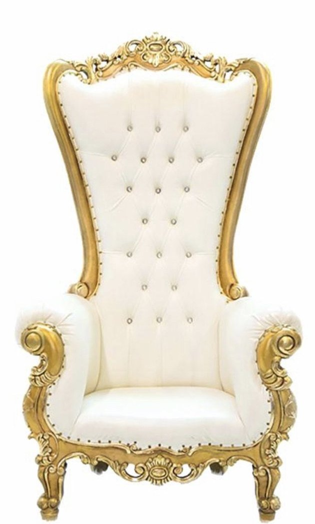 King Sofa - White and Gold