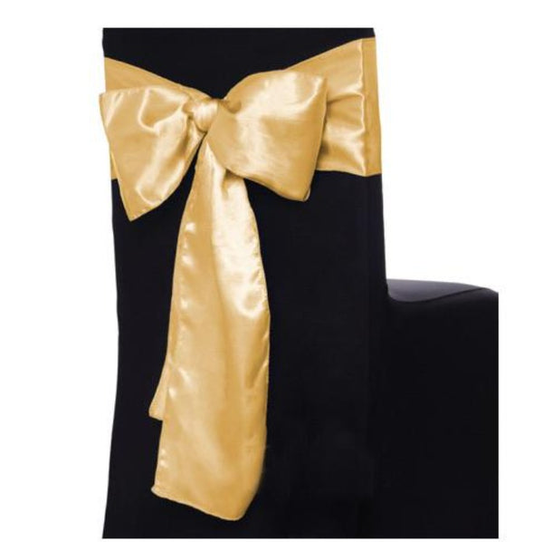 Satin Sash - Yellow Gold