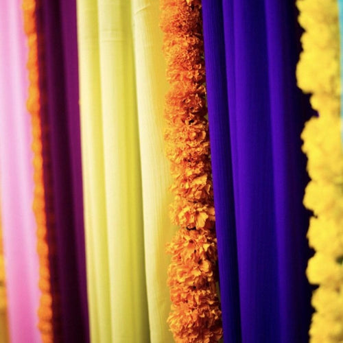 Backdrop Curtain -elegant rainbow chiffon