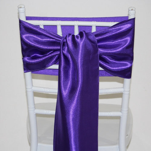 Satin Sash -Purple