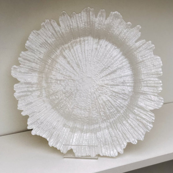 Exclusive Charger Plate Package - White pearl Coral