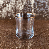 Tumbler Glass - Gold Rim