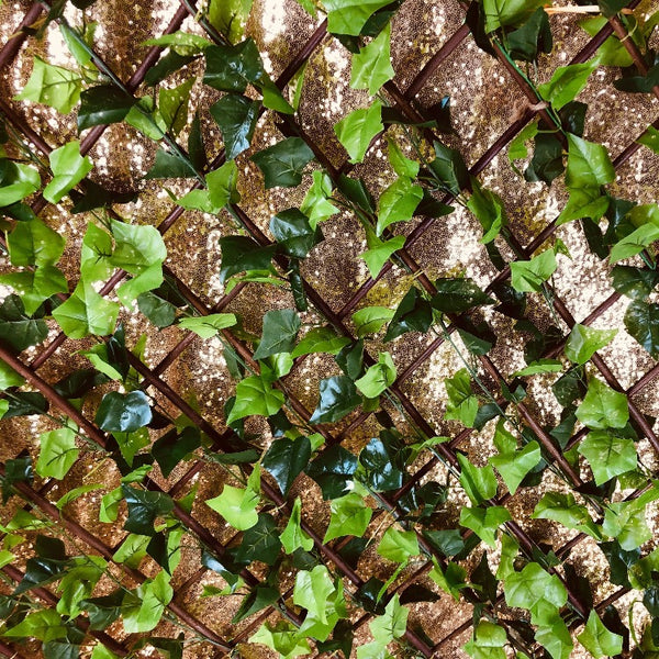 Lattice Backdrop - Green Ivy