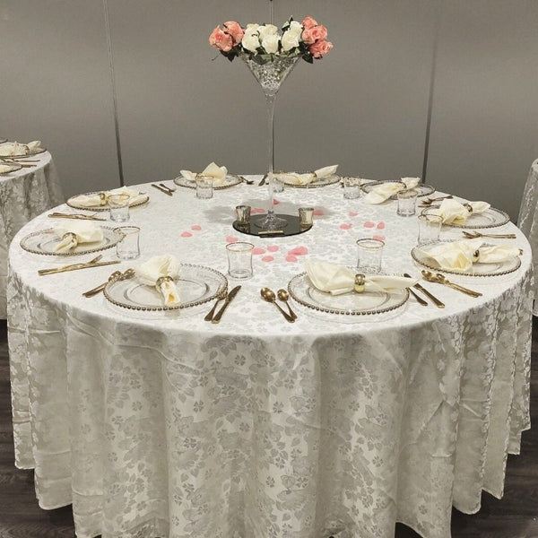 Round Tablecloth - Floral Damask