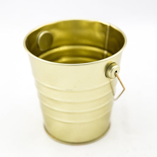 Mini Tin Bucket - Gold