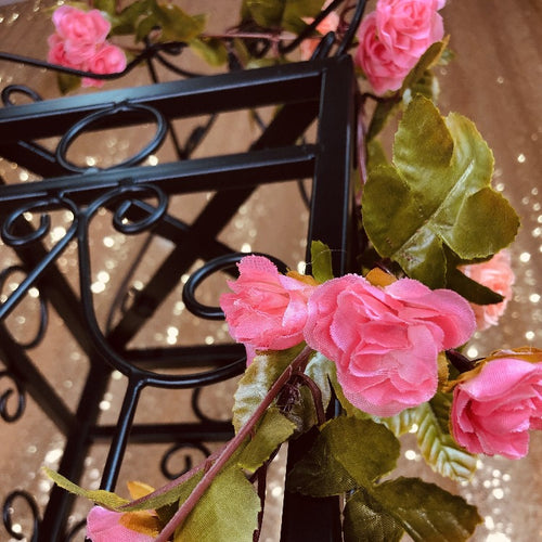 Pink/Apricot Mini Rose Vine