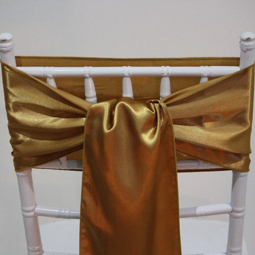Satin Sash - Gold