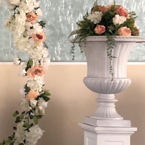 Floral Arrangement - Peach & Ivory