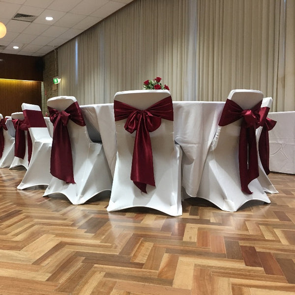 Satin Sash - Burgundy