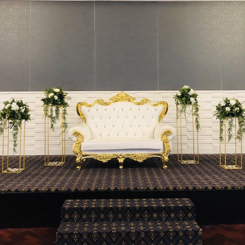Stage Package - Gold Sofa & Plinths