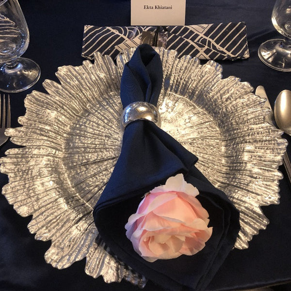 Exclusive Charger Plate Package - Silver Coral