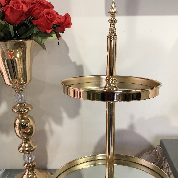 Cake stand set -luxe gold plated mirror