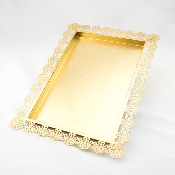 Lattice Tray - Gold