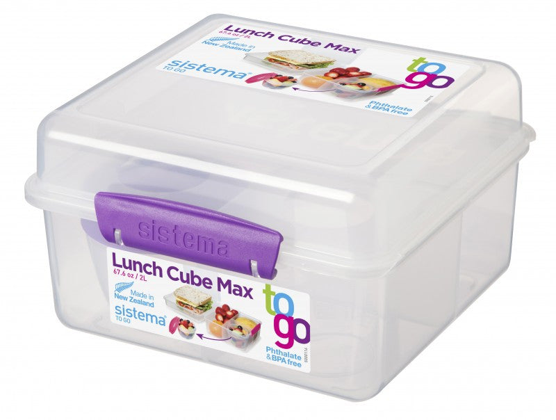 2L Lunch Cube Max To Go with Yogurt Pot