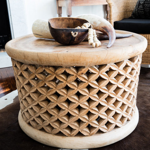 SIDE TABLE ETHIOPIAN COFFEE TRAY Africanologie