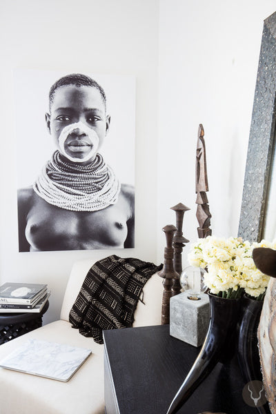 "UNIQUE ART STRETCHED CANVAS - OMO ""MAKEDA"" (Por..."