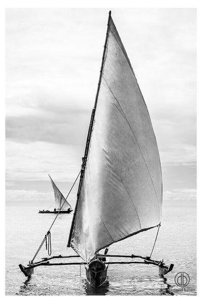 "ARTWORK BALLAM 5 - ZANZIBAR 3 ""SAILING DHOWS"" (Portrait)"
