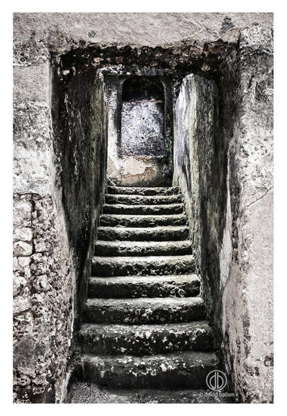 "UNIQUE PHOTOGRAPHIC ART - ZANZIBAR 12 ""STAIRWA..."