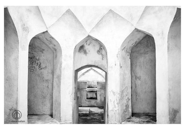 UNIQUE LANDSCAPE ART FRAMED CANVAS - ZANZIBAR 31 ARCHES