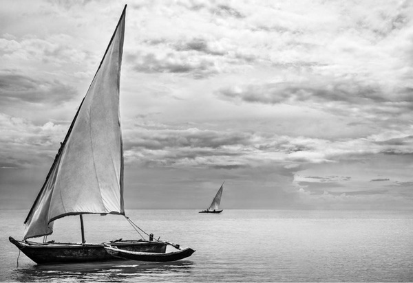 ARTWORK BALLAM H9a - TRADITIONAL DHOW IN ZANZIBAR