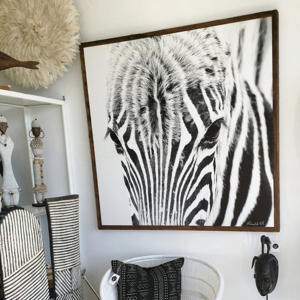 ARTWORK WILD AFRICA - ZEBRA FACE (Square)