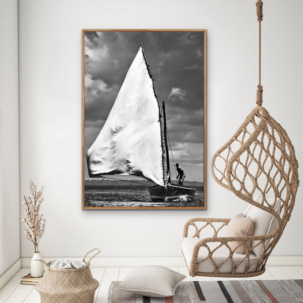 "ARTWORK BALLAM 2 - ILHA04 DHOW ""LARGE WHITE SAIL""  (Port..."