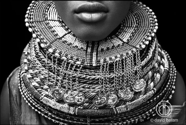 ARTWORK BALLAM H9h - TURKANA NECK JEWELLERY (B&W)