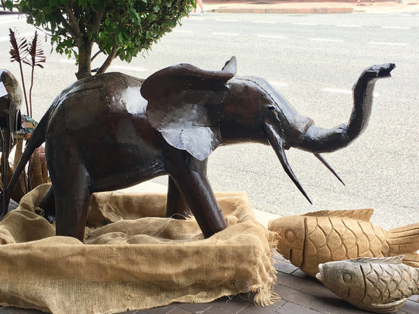 BABY ELEPHANT METAL SCULPTURE (South Africa)