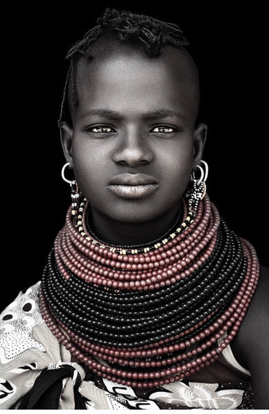 UNIQUE PHOTOGRAPHIC ART - DAVID BALLAM TURKANA GIRL COLOUR